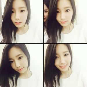 [Foto] Taeyeon Tampil Cantik dengan Rambut Barunya