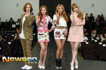 [Foto] Heechul, Goo Hara, Bora dan Hani Di Konferensi Pers KBS