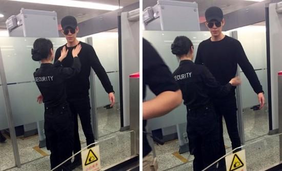 Para Fan Heboh Saat Petugas Wanita Bandara Periksa Tubuh Kim Woo Bin